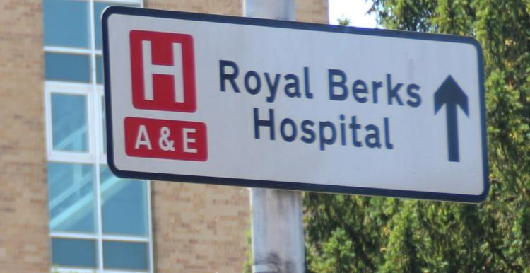 sign for hospital and a & e