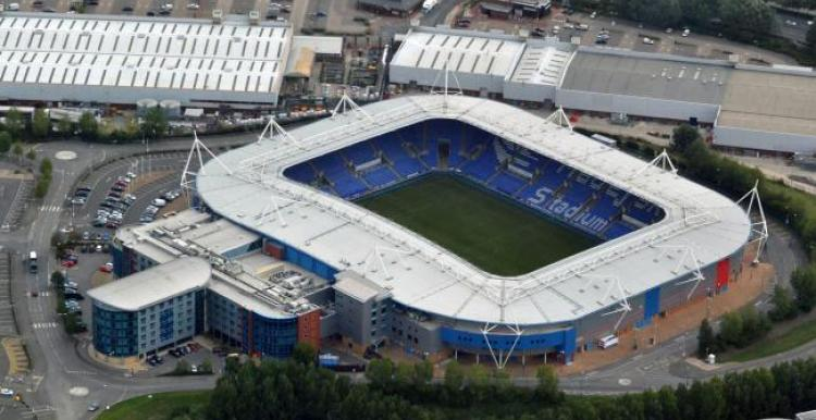 ariel view of madjeski football stadium in Reading