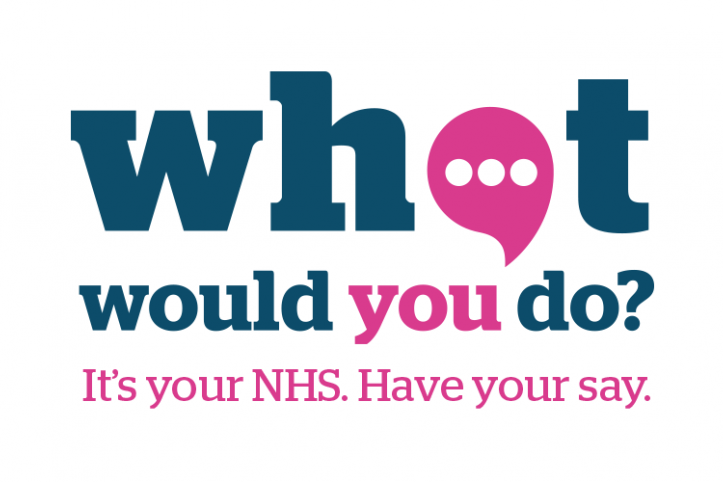 sign saying what would you do for healthwatch survey
