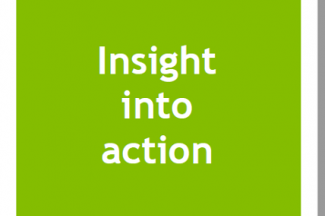 picture of front page of a report called insight into action
