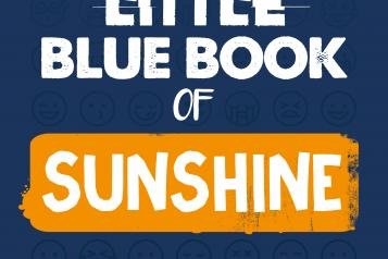 image of children mental health coping book called little blue book of sunshine