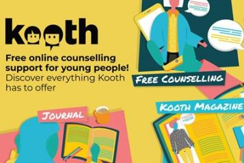 image of kooth mental health counselling flyer