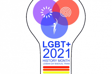 image of LGBT history month logo 2021