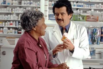 Women talking to a pharmacist