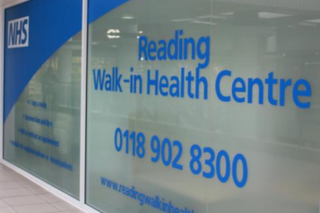 image of the entrance to reading walk in health centre